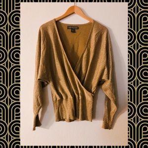 Josephine Chaus ✨ Gold metallic blouse